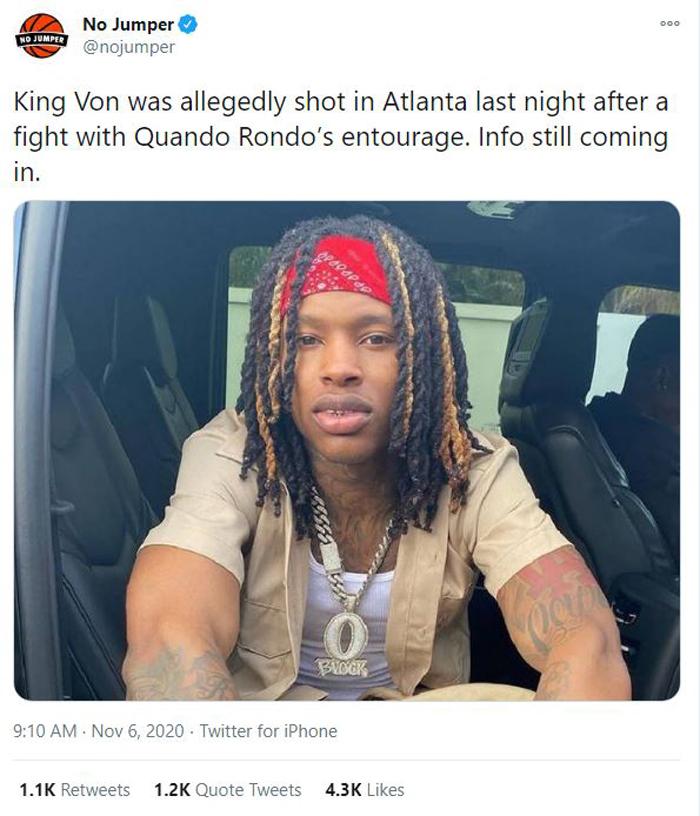 King Von Shot