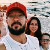 Pastor Carl Lentz takes a selfie with his family