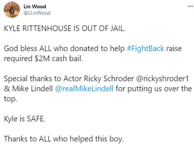 Tweet by Attorney Lin Wood