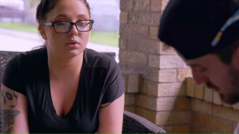 Jade Cline has a sit down conversation with baby daddy Sean Austin during an episode of Teen Mom 2