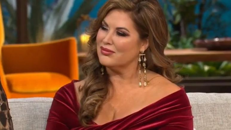 Emily Simpson during a reunion episode of the Real Housewives of Orange County