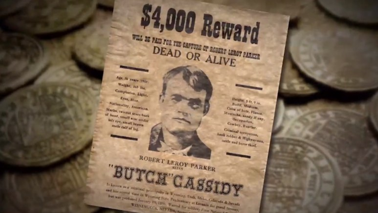 Wanted poster for Butch Cassidy