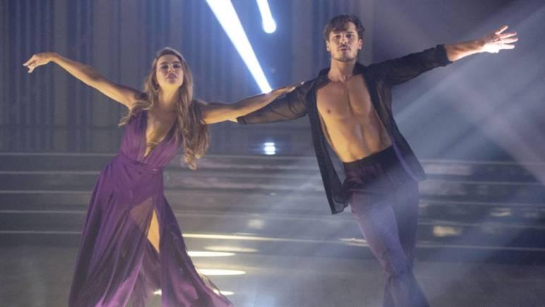 Chrishell Stause and her partner Gleb Savchenko dance on DWTS.