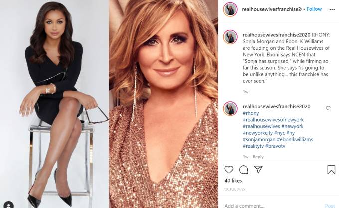 Picutres of Eboni K. William and Sonja Morgan side-by-side.