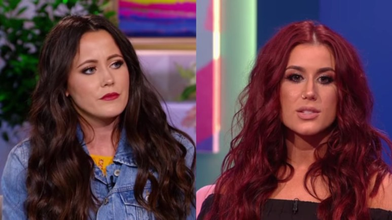 Jenelle Evans and Chelsea Houska at the Teen Mom 2 reunion.