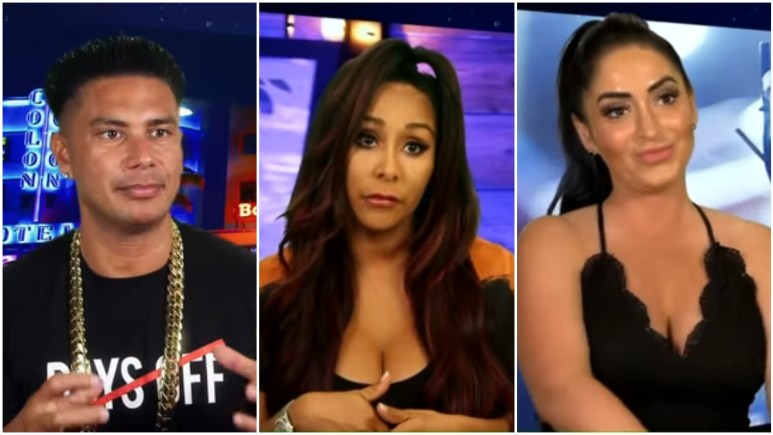 Pauly D, Snooki, and Angelina Pivarnick on Jersey Shore Family Vacation