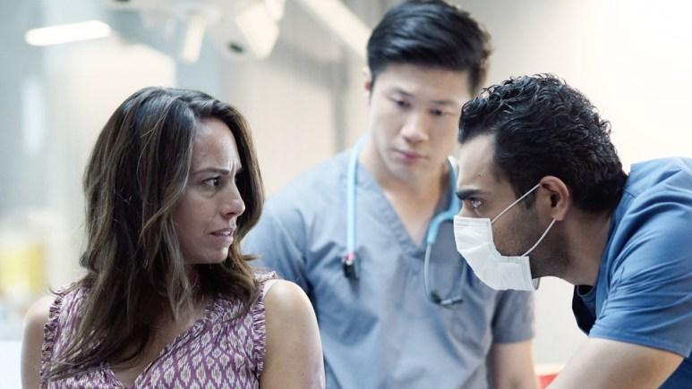 "Paula Rivera as Maria Romero, Kenny Wong as Arnold De Luca, Hamza Haq as Dr. Bashir ""Bash"" Hamed"