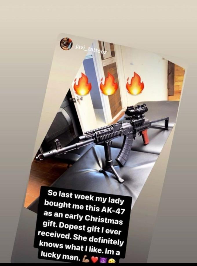 Briana DeJesus shares photo of AK-47 she bought for her boyfriend Javi