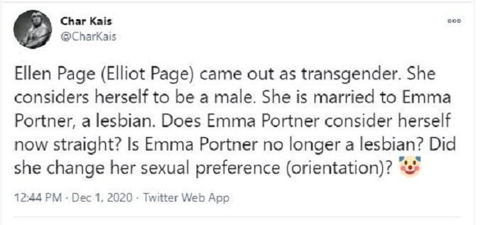 Emma Portner reaction on Twitter