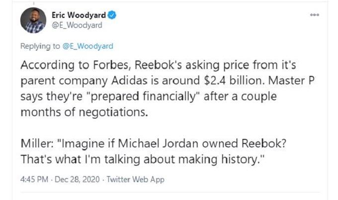 ESPN's Eric Woodyard on Twitter
