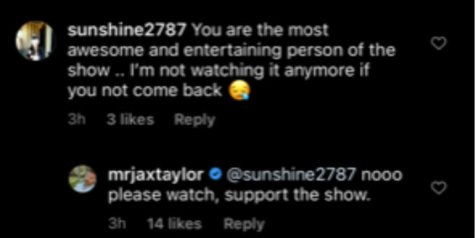 Jax wants fans to still watch Vanderpump Rules.