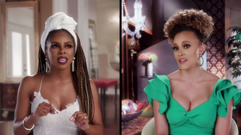 Candiace Dillard and Ashley Darby are dishing about the fight between their husbands in RHOP finale