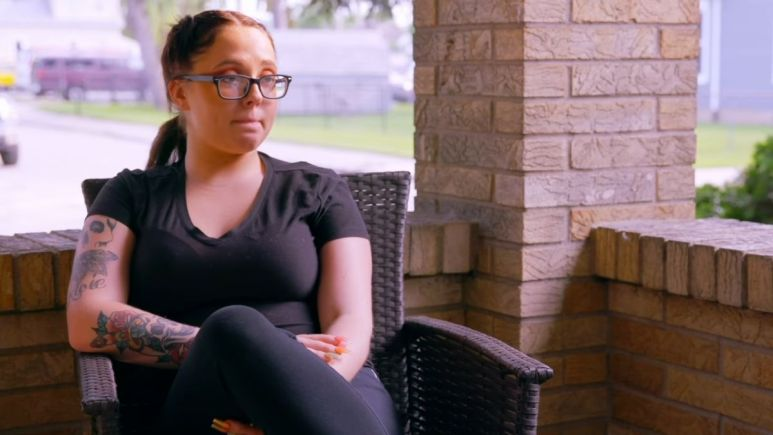 Jade Cline during an episode of Teen Mom 2