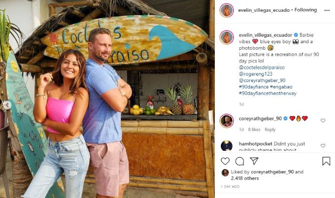 90 Day Fiance: The Other Way couple Corey and Evelin.