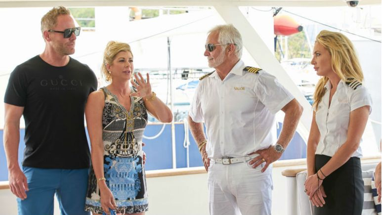 Charter guests act differently around the captain than the rest of the crew.