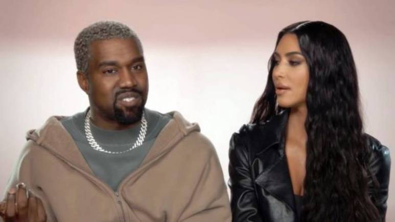 Kim Kardashian and Kanye West film a confessional interview for KUWTK.