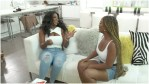 Keyna Moore laughs with LaToya Ali on The Real of Housewives of Atlanta.
