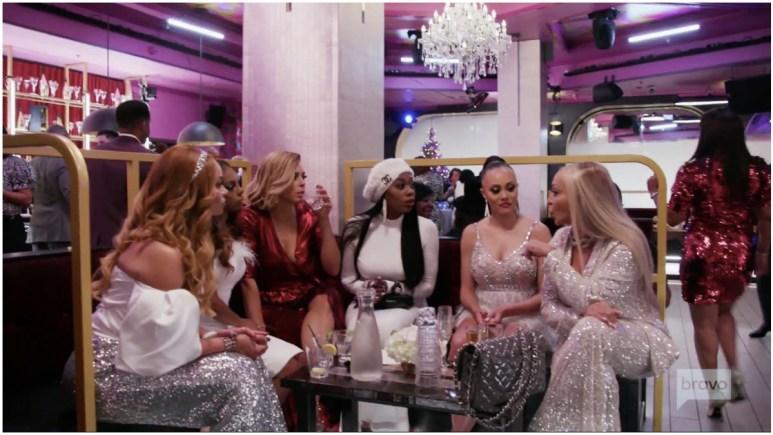 The women confront Karen Huger on The RHOP finale.