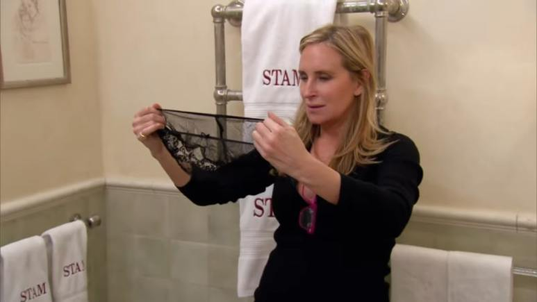 RHONY star Sonja Morgan picks out a pair of fancy panties.