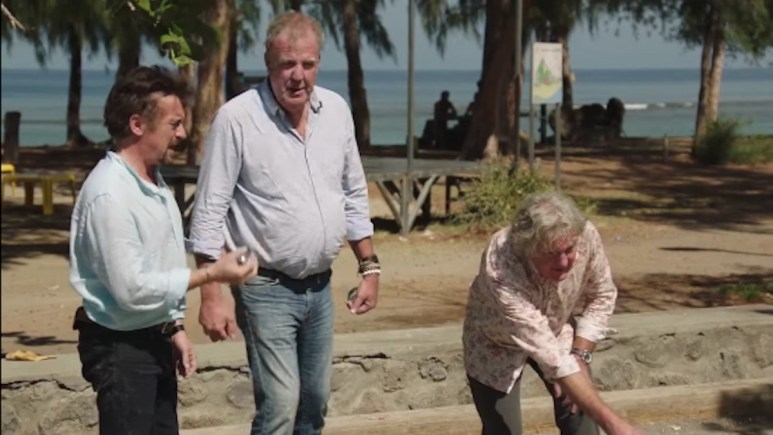 Richard Hammond, Jeremy Clarkson and James May playing boules in Madagascar