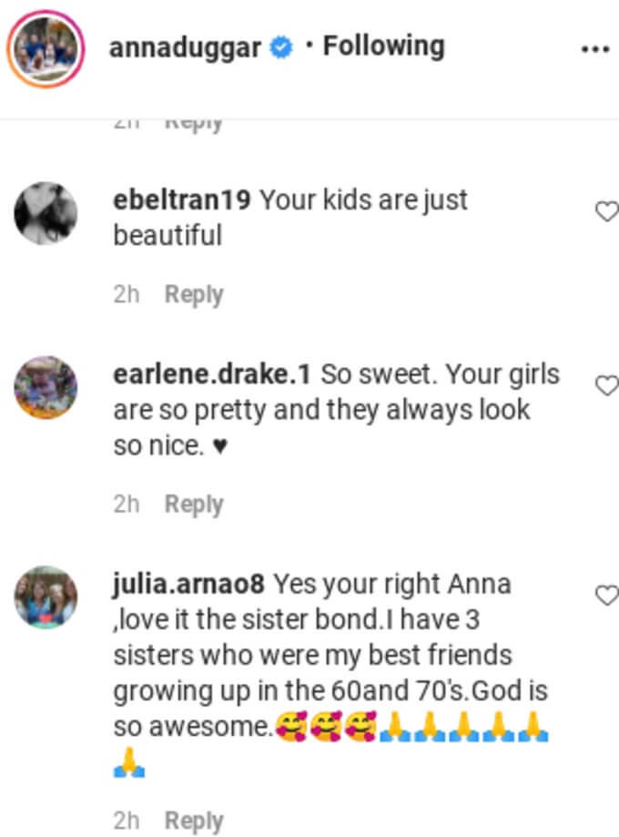 Comments from Anna's IG post.