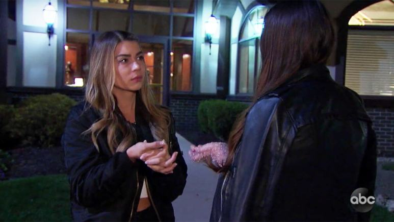 The Bachelor Victoria confronting Sarah