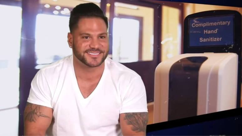 Ronnie Magro during an episode of Jersey Shore Family Vacation