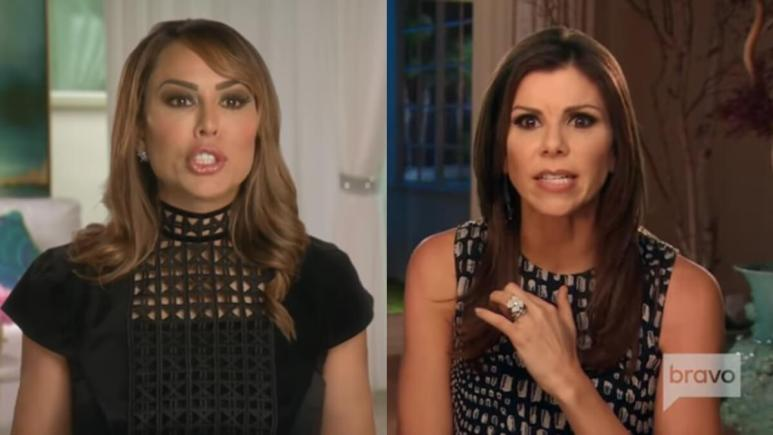 Kelly Dodd and Heather Dubrow in RHOC confessionals.