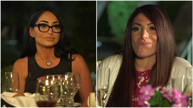 Angelina Pivarnick and Deena Cortese during an episode of Jersey Shore Family Vacation