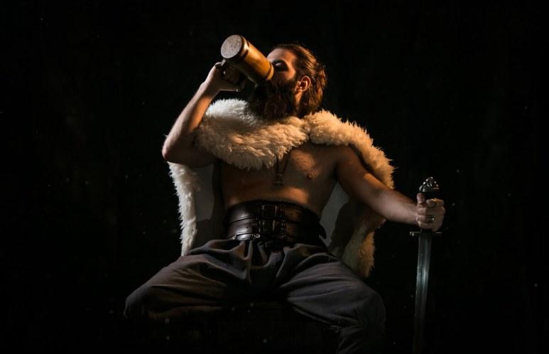 A man dressed as a Viking
