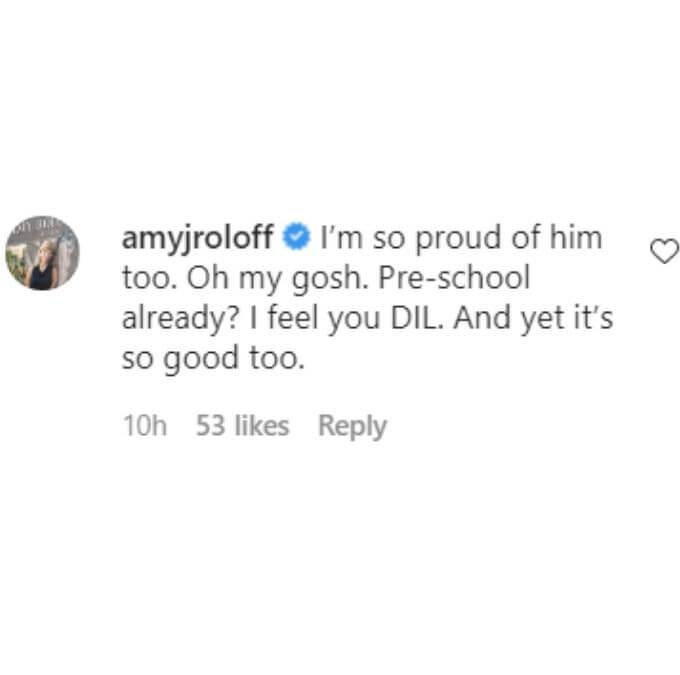 Amy Roloff on Tori Roloff's Instagram