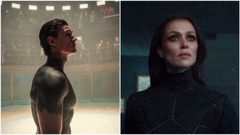 Emilio Sakraya as Kiano and Melika Foroutan as Lord Vavara, as seen in Netflix's Tribes of Europa