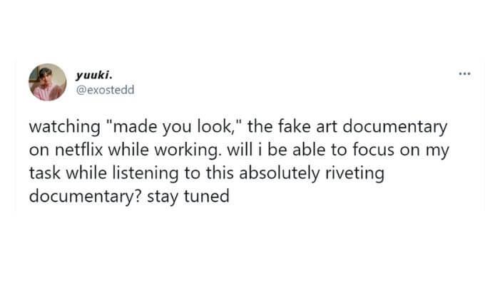 Captura de pantalla del tweet mencionado.