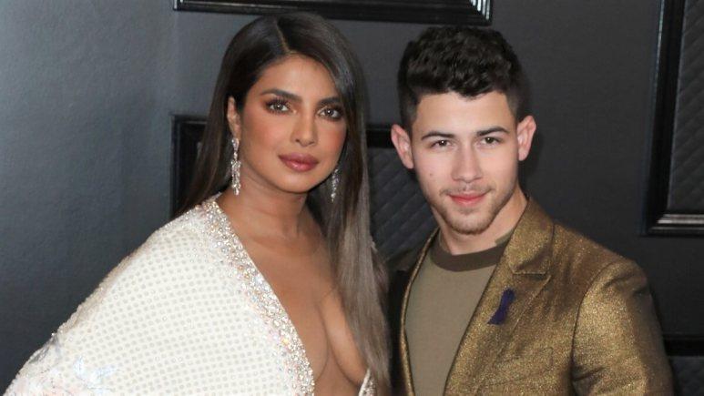 Nick Jonas and Priyanka Chopra at the 2020 Grammy awards