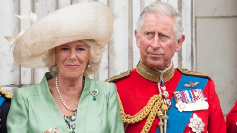 Prince Charles and Camilla at Buckingham Palace