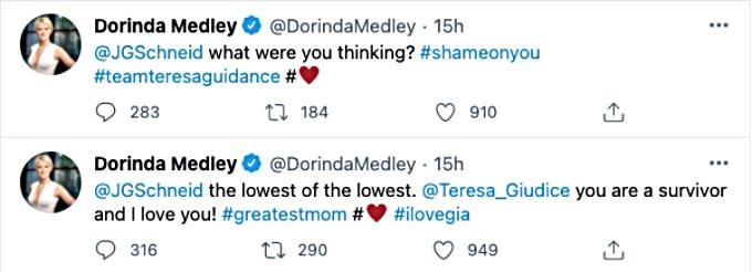 Dorinda Medley sides with Teresa Giudice.