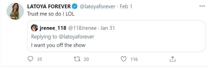 LaToya Ali says she wishes she wasn't on RHOA.