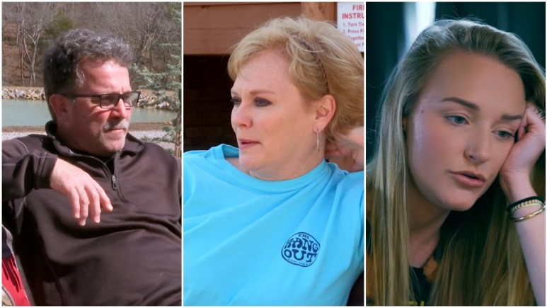 Jen Edwards, Larry Edwards and Maci Bookout during an episode of Teen Mom OG
