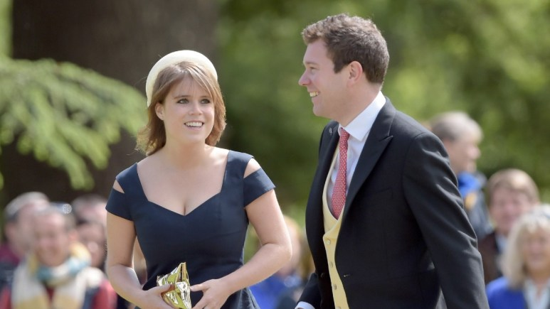 Princess Eugenie and Jack Brooksbank attend a wedding