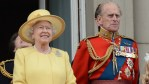 Queen Elizabeth and Prince Philip at the Trooping of Color
