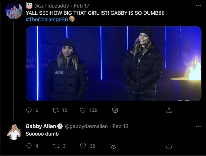 fan of the challenge calls out gabby allen mistake in episode 10