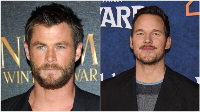 Chris Hemsworth and Chris Pratt on the red carpet