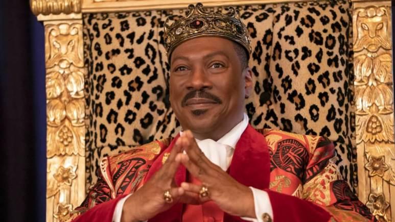 Eddie Murphy as Prince Akeem in Coming 2 America.