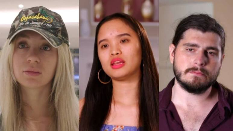 Andrew, Hazel, and Yara from 90 Day Fiance