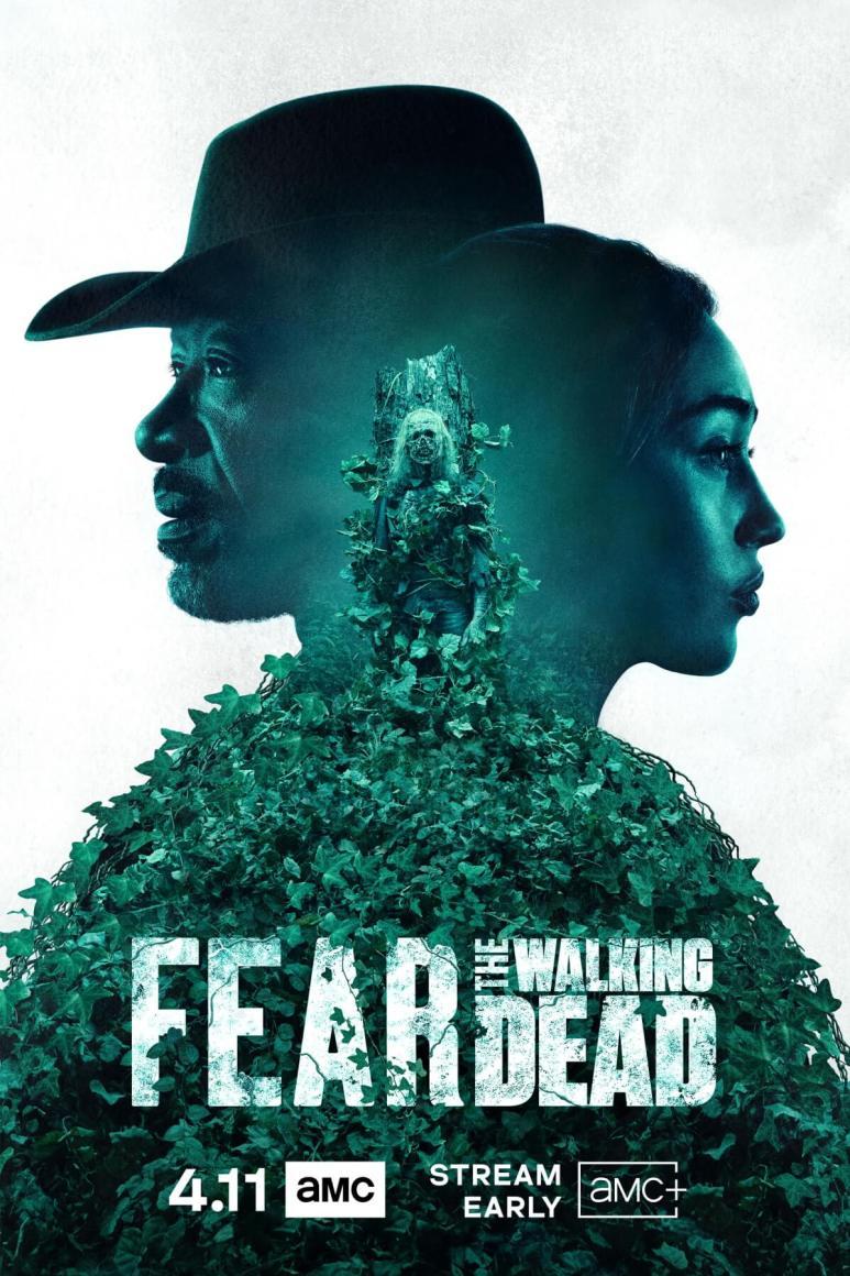 Promotional poster for Season 6B of AMC's Fear the Walking Dead, featuring Lennie James as Morgan Jones and Alycia Debnam-Carey as Alicia Clark