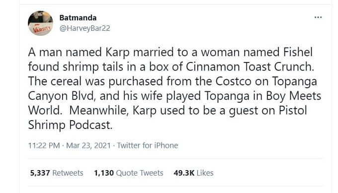 A Twitter user comments on the Cinnamon Toast Crunch situation