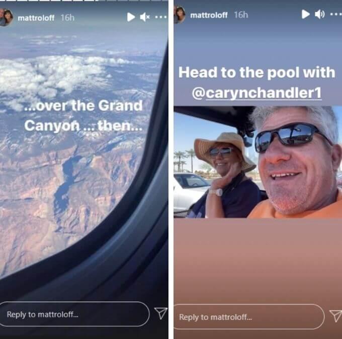Matt Roloff and Caryn Chandler of LPBW on Instagram
