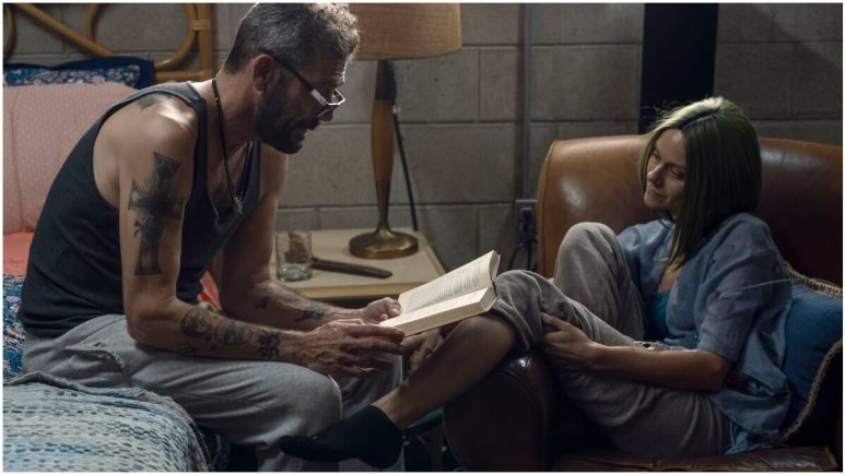 Jeffrey Dean Morgan as Negan and Hilarie Burton as Lucille, as seen in Episode 22 of AMC's The Walking Dead