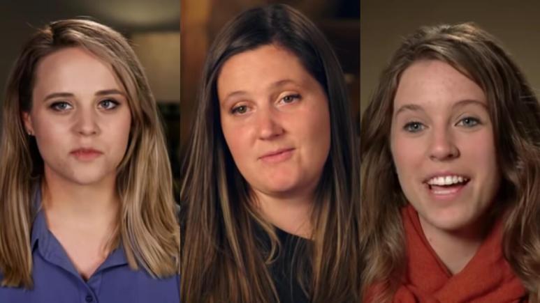 Jinger Duggar, Tori Roloff, and Jill Duggar in TLC confessionals.