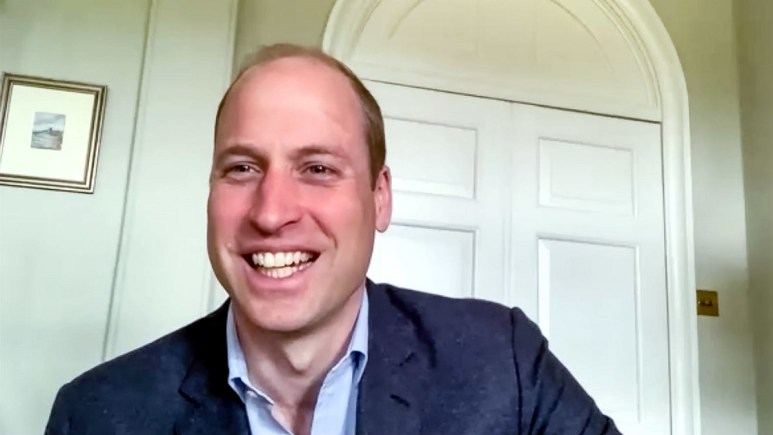 Prince William conducts an internet call